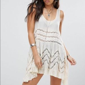 Free People Voile & Lace Trapeze Slip Polka Dot